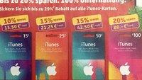 iTunes-Karten mit Rabatt im November 2015