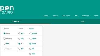 Open GApps: Webseite von XDA-Veteranen macht Download von Google-Apps zum Kinderspiel [Tipp]