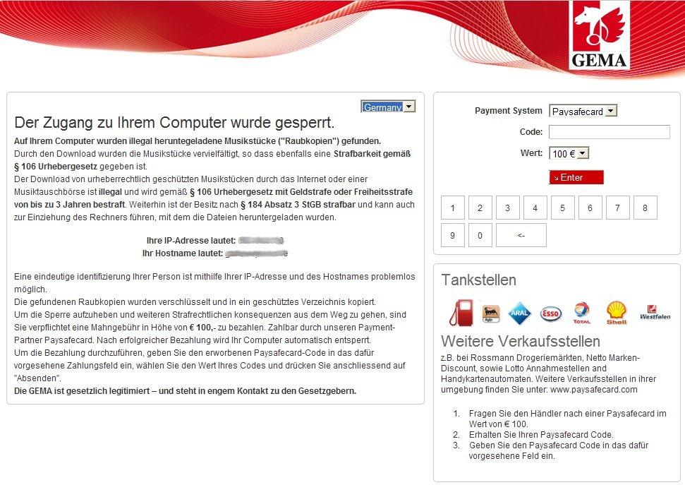 ransomware von der GEMA
