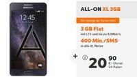 Samsung Galaxy A5 mit 3 GB LTE-Flat & 400 Freiminuten für nur 20,90 Euro im Monat