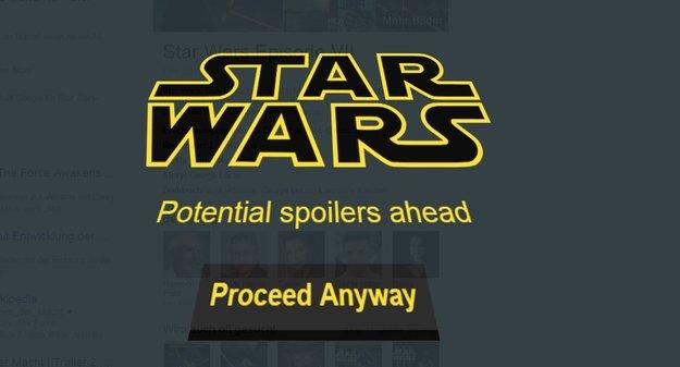 Star Wars 7: Spoiler vermeiden dank Browser-Add-on