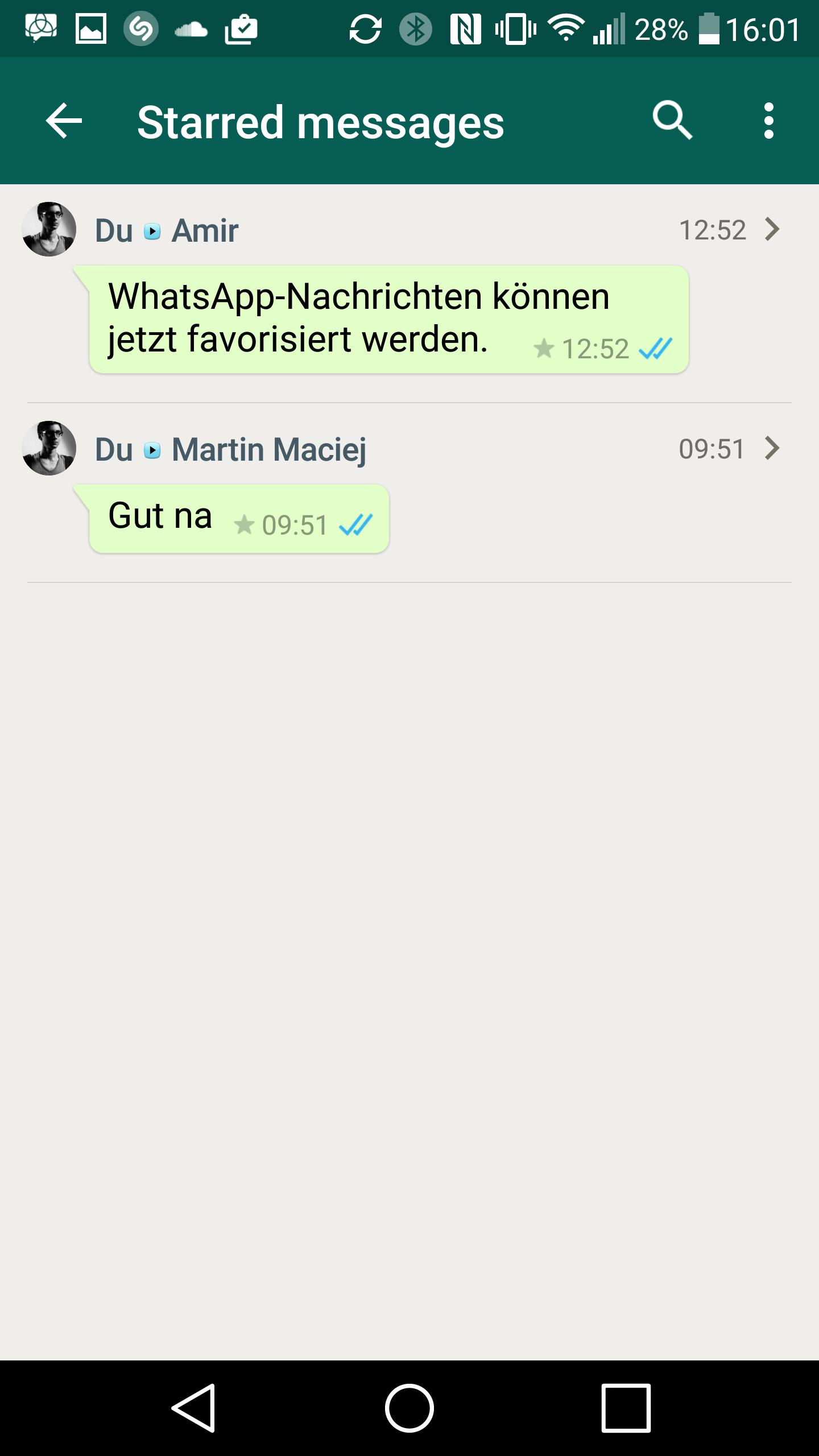 WhatsApp für Android: Nachrichten können favorisiert werden