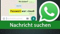 WhatsApp: Nachricht suchen – So findet ihr alten Text im Chat