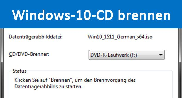 Windows 10: CD & DVD brennen – so geht's