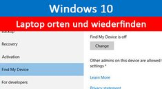 Windows 10: Laptop orten und Notebook wiederfinden – So geht's
