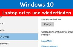 Windows 10: Laptop orten und...
