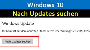 Windows 10: Nach Updates suchen – so geht's