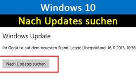 Windows 10: Nach Updates suchen – Anl...