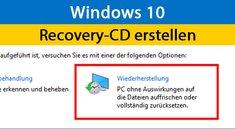 Windows 10 & 7: Recovery-CD erstellen – So geht's