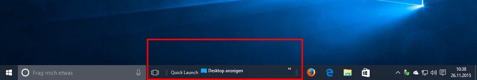 Schnellstartleiste Windows 10