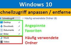 Windows 10: Schnellzugriff...