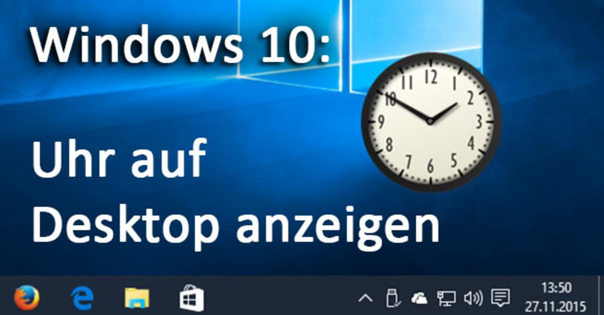 win 10 uhr auf desktop