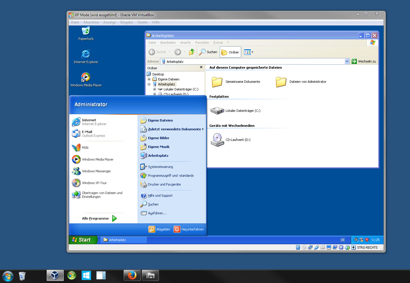 xp mode windows 10