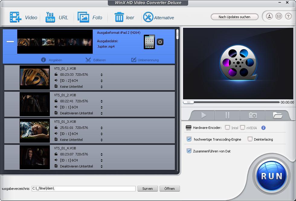 WinX HD Video Converter Deluxe – Allround Videokonverter Download – GIGA