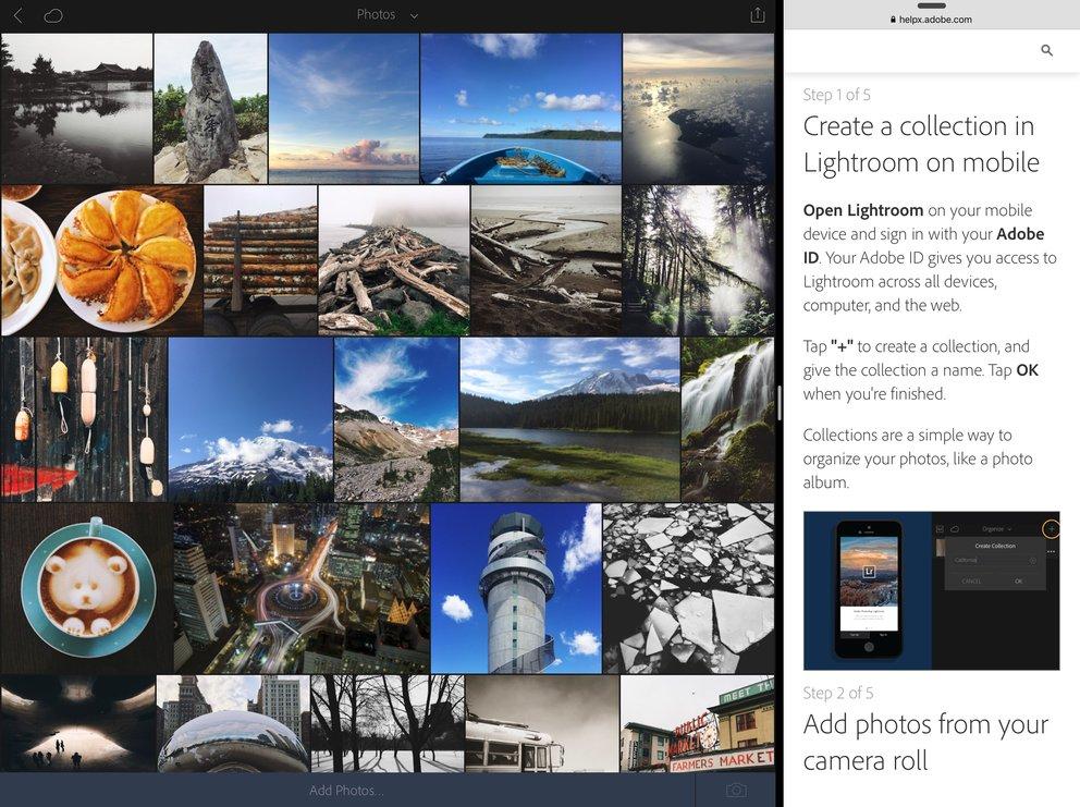 Lightroom 2.1 für iOS unterstützt nun auch die Multitasking-Fähigkeiten von iOS 9