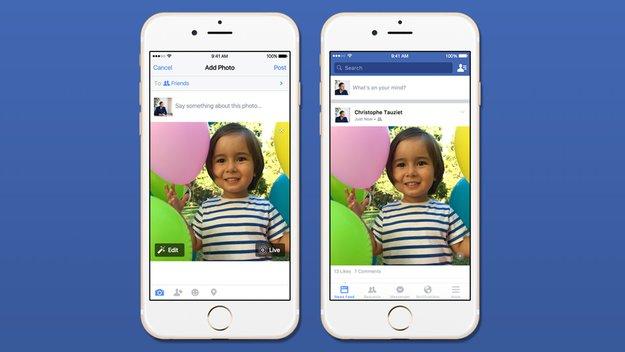 Facebook-App erlaubt ab sofort das Teilen von Live Photos