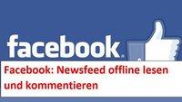 Facebook-News: Feed offline lesen und kommentieren