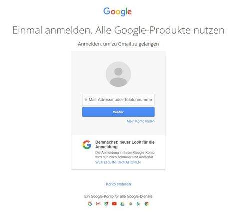 Google Login alt