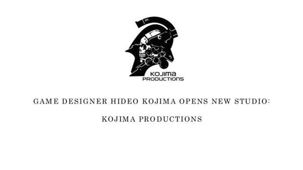 Hideo Kojima eröffnet neues Studio!