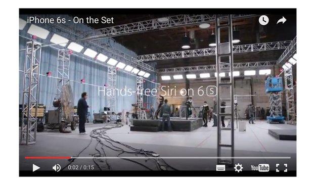 iPhone 6s am Filmset: Apple zeigt neuen Werbespot