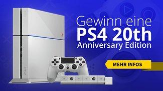 Das beste Weihnachtsgeschenk: Gewinne eine PS4 in der seltenen 20th Anniversary Edition!