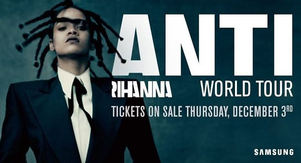 Rihanna-Tour 2016: Neues Album Anti nur Heute KOSTENLOS