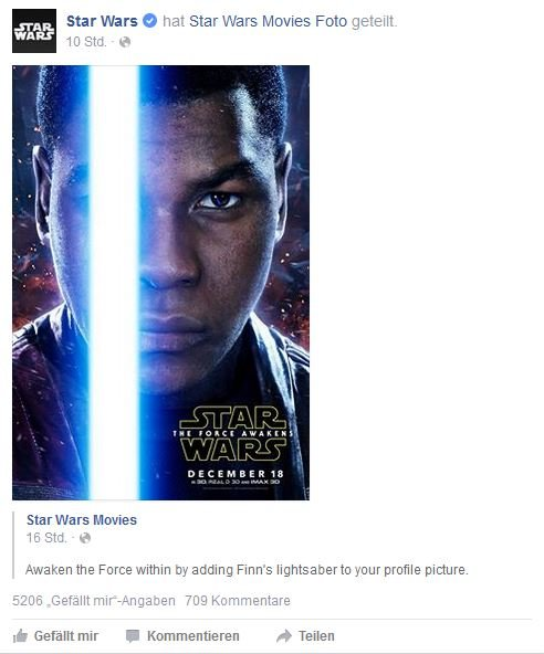 Star Wars Profilbild Facebook