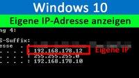 Windows 10: Eigene IP-Adresse anzeigen – so geht's