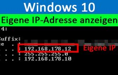 Windows 10: Eigene IP-Adresse...