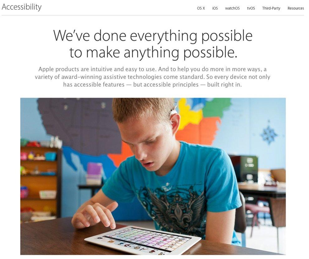 Apple möchte Barrierefreiheit-Produkte in eigenen Stores anbieten