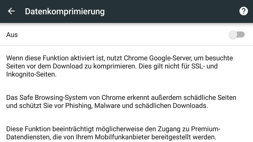 datenkomprimierung-chrome-android