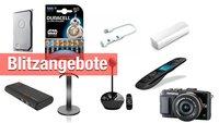 Blitzangebote bei Amazon: Externe Akkus, Festplatte, Kamera und mehr