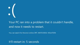"Lösung: ""DPC Watchdog Violation"" in Windows 8/10"