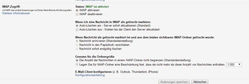 google-imap