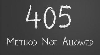 HTTP-Fehler 405: Methode nicht zugelassen - Was tun?