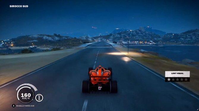 Das Formel 1-Auto ist besonders schnell auf den Straßen Medicis