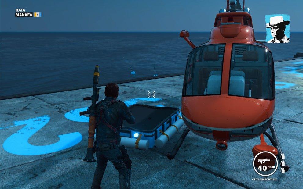 Auch Helikopter können mit dem Rebellenabwurf angefordert werden