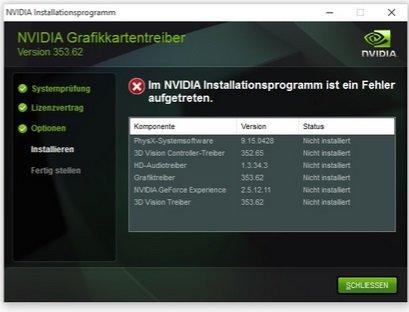 nvidia-installationsprogramm