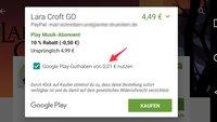 Google Play Store: Kombination unterschiedlicher Zahlungsmethoden jetzt auch in Deutschland