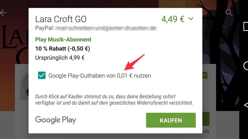 Google Play Store: Kombination unterschiedlicher