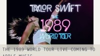 "Taylor Swift veröffentlicht ""The 1989 World Tour Live""-Video exklusiv bei Apple Music"