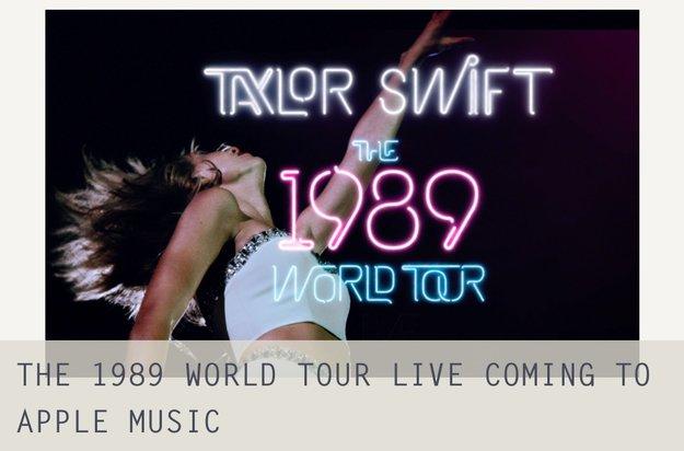 """Taylor Swift veröffentlicht """"The 1989 World Tour Live""""-Video exklusiv bei Apple Music"""