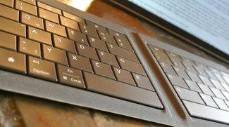 Universal Foldable Keyboard: Microsoft-Tastatur für Tablets und Smartphones im Test
