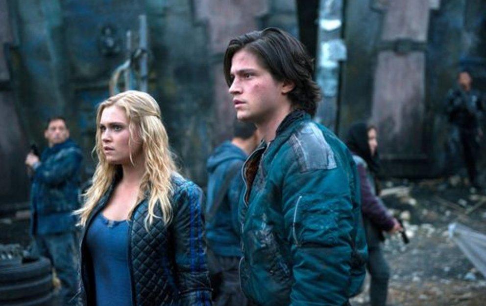 Clarke und Bellamy - zwei wichtige Charaktere in der Sendung