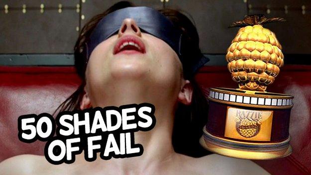 Fifty Shades of Fail - 6 Goldene Himbeere Nominierungen für SM-Schmonzette