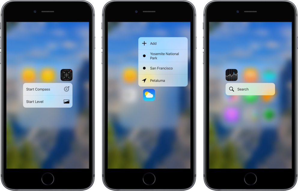 3D Touch in iOS 9.3