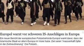 Europol warnt vor schweren IS-Anschlägen in Europa: Meldung auf Facebook und Co.