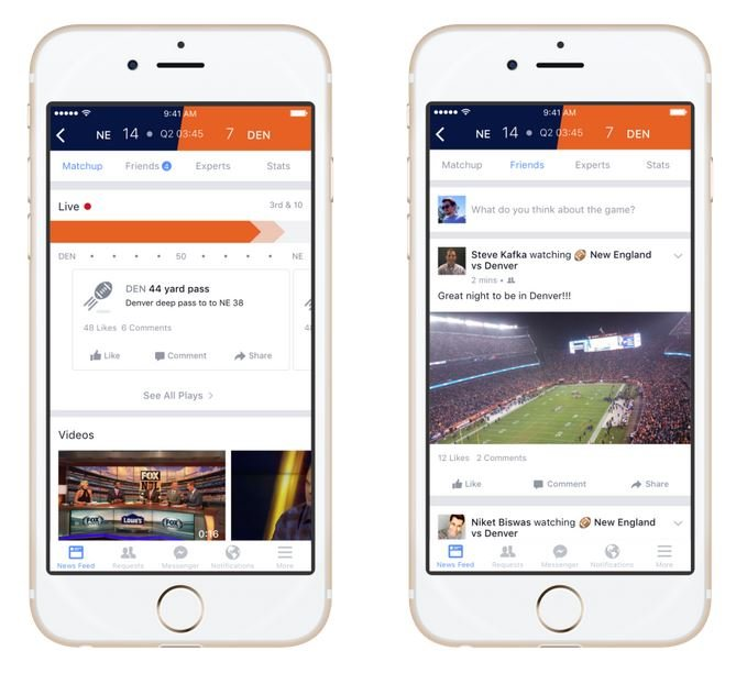 Facebook Sports Stadium Screenshot