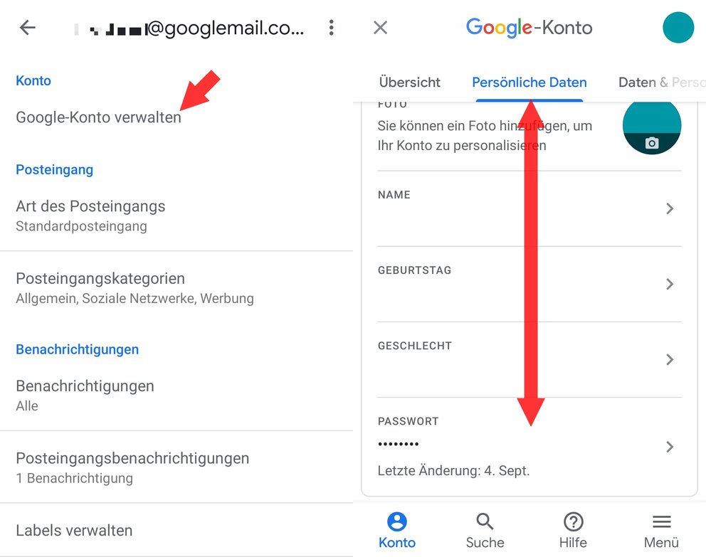 Gmail Passwort aendern App 02