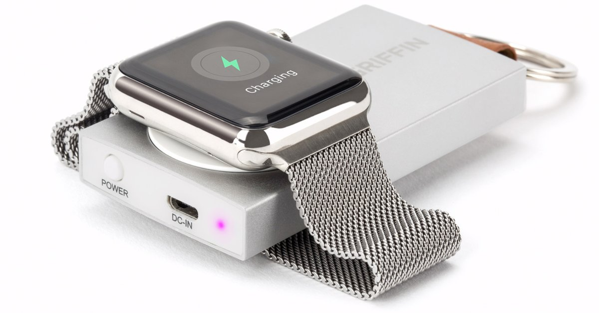 griffins travel power bank l dt die apple watch ohne kabel. Black Bedroom Furniture Sets. Home Design Ideas